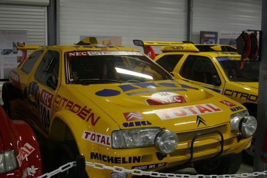 conservatoire citroen, voitures course jaune