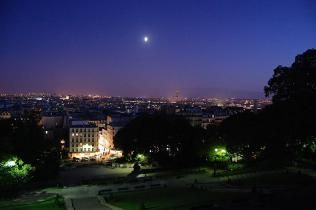 View of Montmartre from famous Sacré Coeur