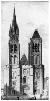 Basilique Saint-Denis en 1820