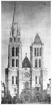 Basilique Saint-Denis en 1845