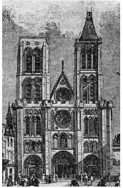 Basilique Saint-Denis en 1846