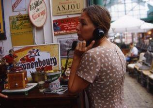 Woman shopping in the flea market