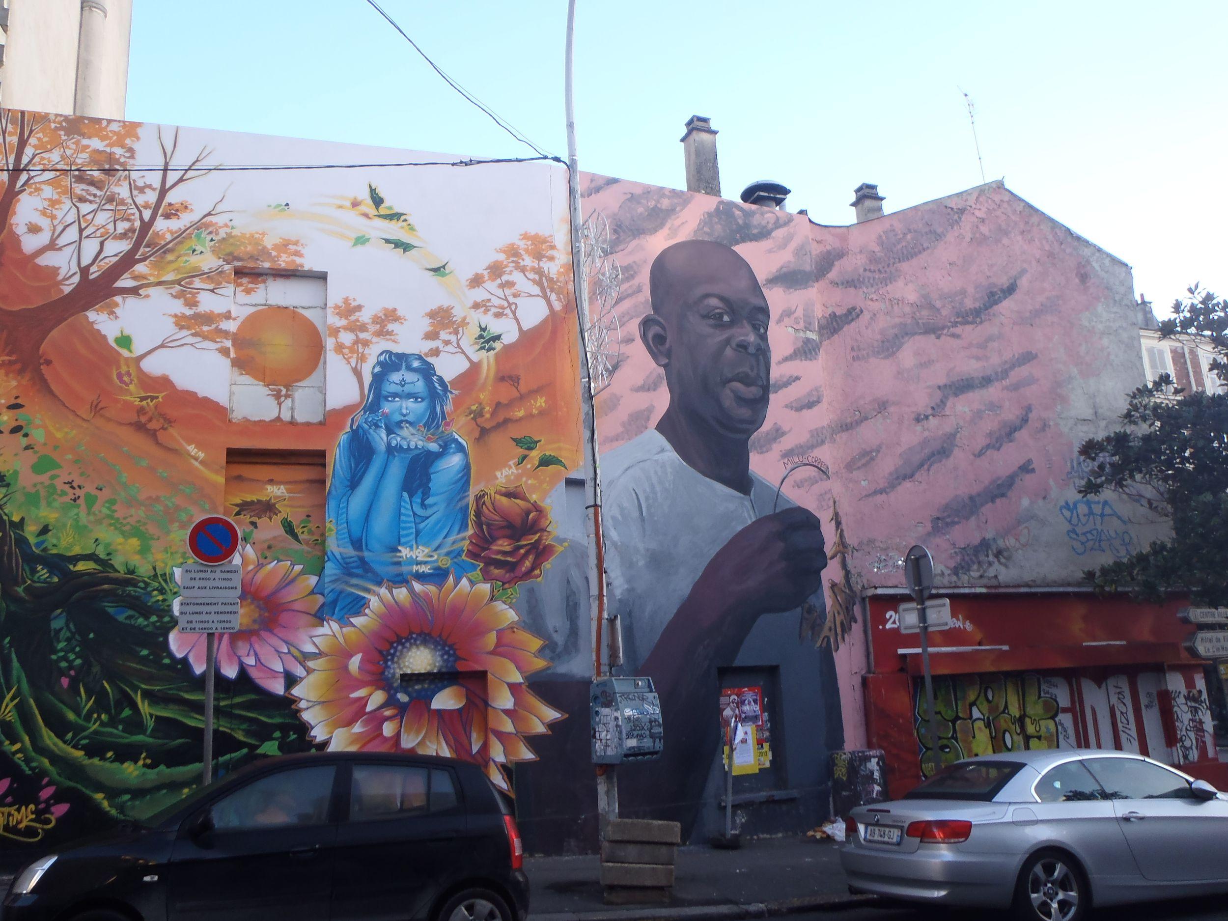 Mur de graff proche de la Mairie de Bagnolet