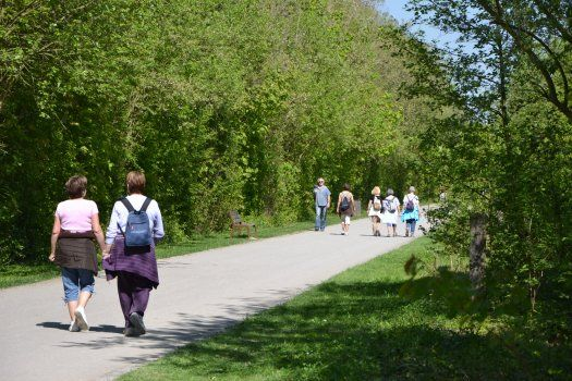 allée parc de la Haute Ile à Neuilly sur Marne