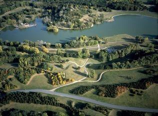 View of Parc Georges Valbon in La Courneuve
