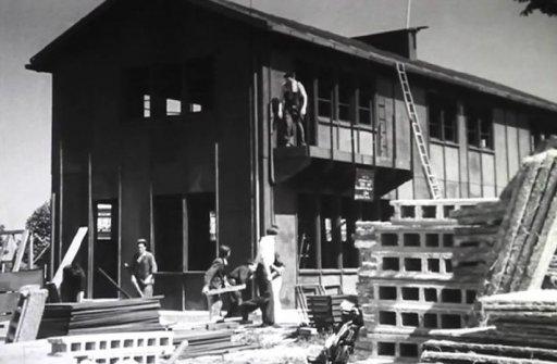 Construction de la maison Brissoneau et Lodz © Archives municipales de Noisy-le-Sec (DR)