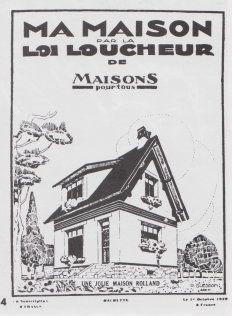 Couverture du numéro hors série de Maisons pour tous du 1er octobre 1929, qui présentait des modèles de maisons conçues par des architectes