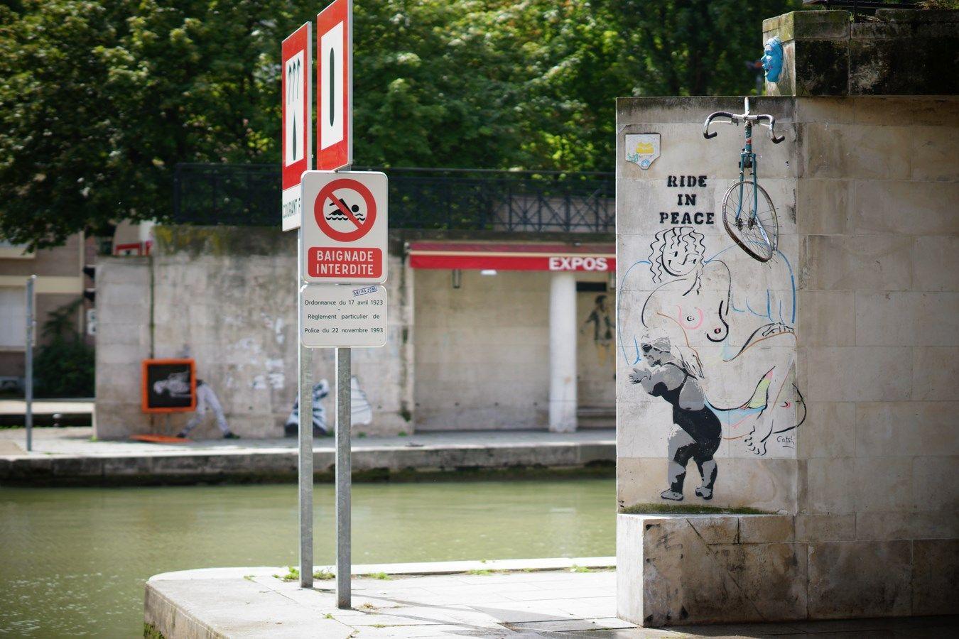 Street art Bassin de La Villette