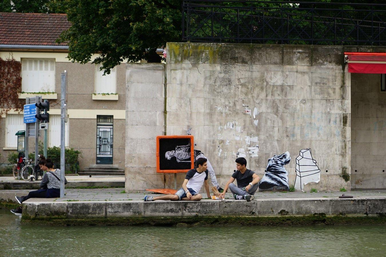 Graff de Levalet au Bassin de la Villette