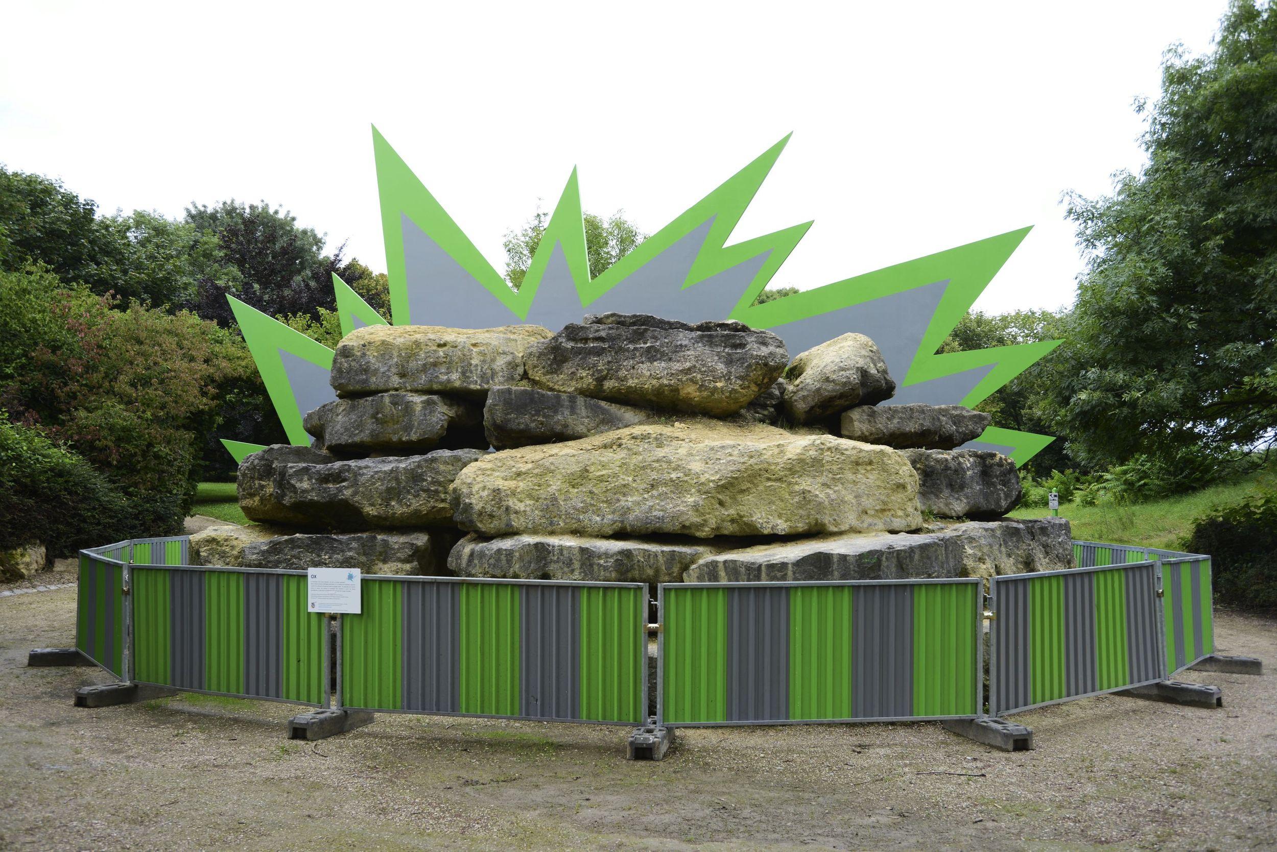 Oeuvre de Ox dans le parc de la Bergère