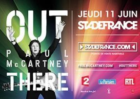 Affiche du concert de Paul McCartney au Stade de France