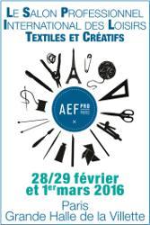 Salon aef pro paris 2016 aiguille en f te loisir cr atif for Salon loisirs creatifs paris