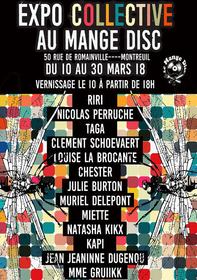 Expo collective au Mange Disc à Montreuil