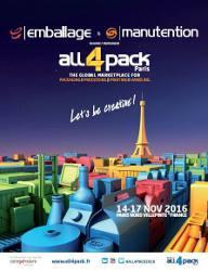 Salon all4pack emballage manutention paris villepinte for Salons novembre 2016