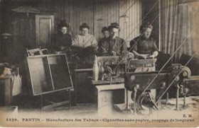 Women workers at the tobacco factory in Pantin