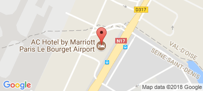 AC Hôtel Paris Le Bourget Airport, 2 rue de la Haye Le Bourget Zone d'aviation d'affaires, 93440 DUGNY