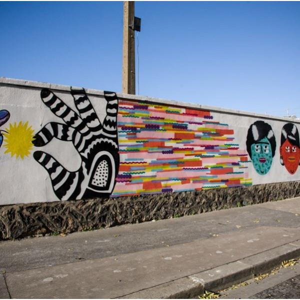 le mur rosa parks la plus longue fresque street art de. Black Bedroom Furniture Sets. Home Design Ideas