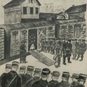 Parcours autour des dessins de Georges Horan-Koiransky et de la cité de La Muette au Mémorial de la Shoah à Drancy